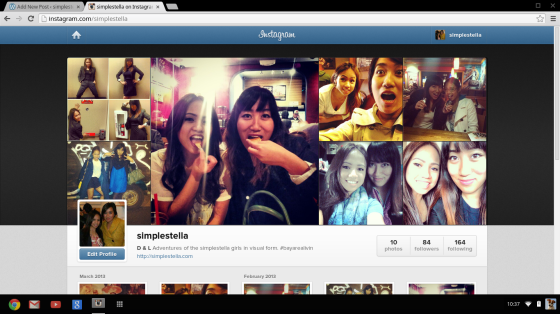 Follow us guys. teehee! @simplestella